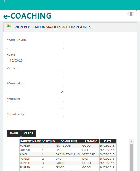 Coaching Classes Management System - Percept Web Solutions